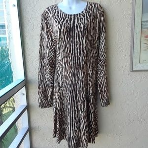 Michael Kors Animal Print Sweater Dress